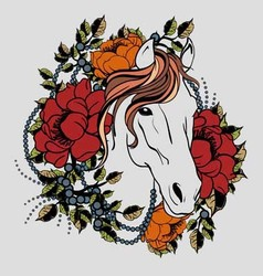 Horse tattoo 2 vector
