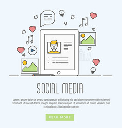 infographics of social media networking marketing vector image