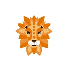 Lion african animals stylized geometric head vector