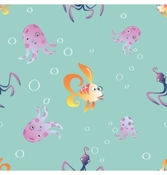 Marine seamless pattern background vector