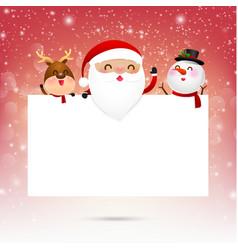 Merry christmas santa claus cartoon and blank vector