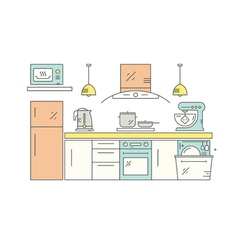 Modern kitchen design vector