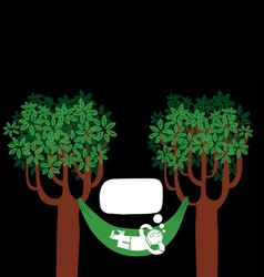 nature dreaming vector image