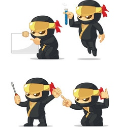 Ninja Customizable Mascot 9 vector image vector image