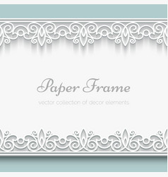 Paper lace frame vector
