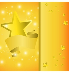 Postcard with a tape star and sequins vector image