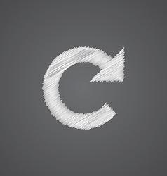 Reload sketch logo doodle icon vector