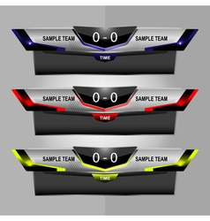 Scoreboard object for sport vector
