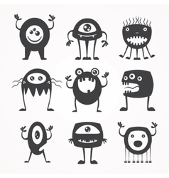silhouettes of monsters vector image
