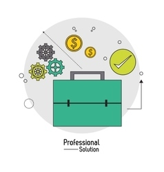 Suitcase icon proffesional solution vector