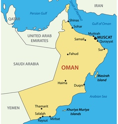 Sultanate of oman - map vector