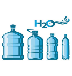 water bottles set vector image vector image