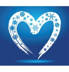 winter heart vector image vector image