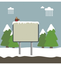 winter sign vector image