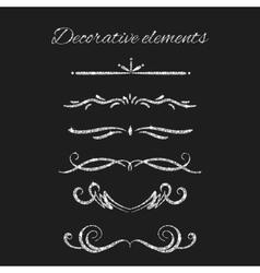 Silver text dividers set Ornamental decorative vector image