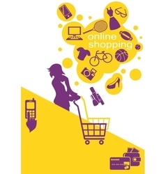 Woman Buys Goods vector image