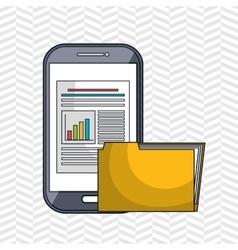 smartphone cloud web vector image