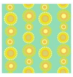 Yellow circles vector image