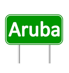 Aruba road sign vector