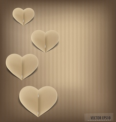 Paper heart shape symbol for valentines day vector
