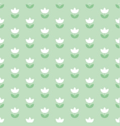 pale color holland tulip repeatable motif simple vector image
