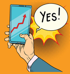 phone screen with the schedule of growth vector image