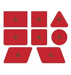 Buttons with flag of morocco vector
