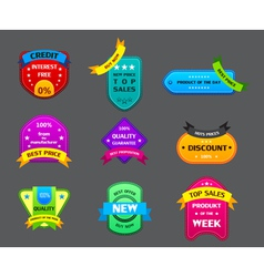 collection of many authentic labels vector image