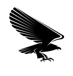 Black eagle tattoo vector