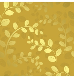 Floral pattern with gradient - gold vector