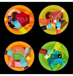 Set of option presentation labels flat design web vector