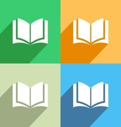 Book icon menu icon vector