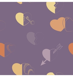 Seamless background with hearts vector
