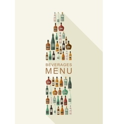 Alcoholic beverages menu vector