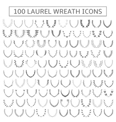 Laurel wreath set vector image