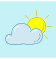 Partly sunny icon vector