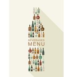 Alcoholic beverages menu vector