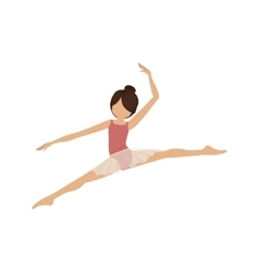 Colorful dancer pose small spears vector