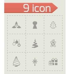 Cristmas trees icon set vector