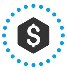 Dollar hexagon icon vector