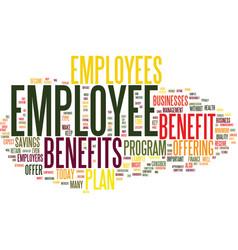 Employee benefits text background word cloud vector