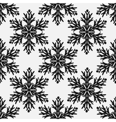 Falling snow seamless pattern Black vector image