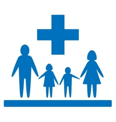 Family medical sign vector