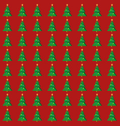 flat christmas tree seamless pattern vector image vector image