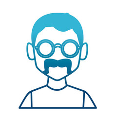geek man with round frame glasses vector image