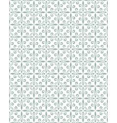 Gray green damask seamless pattern background vector