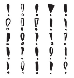 Hand painted exclamation marks vector