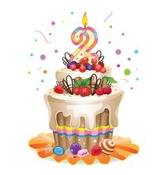 Happy birthday cake 2 vector