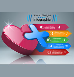 health icon 3d medical infographic vector image vector image