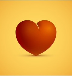 Icon of red heart vector image vector image